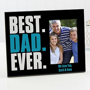 personalized father s day picture frame best dad ever