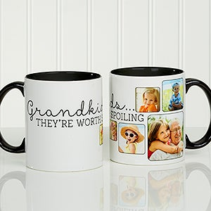 Personalized Photo Coffee Mug - They're Worth Spoiling - 15654