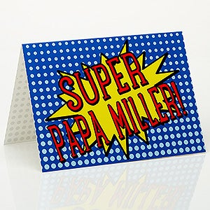 Personalized Father's Day Greeting Card - Super Hero - 15659