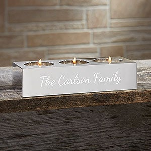 Personalized You Name It 3 Tea Light Candle Holder - 15663