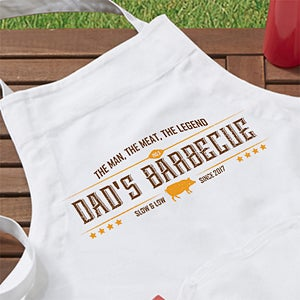 Personalized Apron - The Man, The Meat, The Legend - 15666