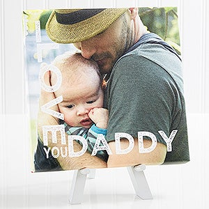 Personalized Tabletop Photo Canvas Print - We Love You - 15669