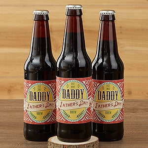 Personalized Beer Bottle Labels - Dad's Ale - 15671