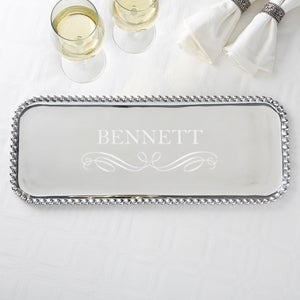 Personalized Mariposa String of Pearls Rectangle Serving Tray - 15682