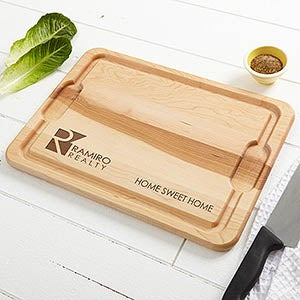 Personalized Wood Cutting Board With Your Business Logo - 15723