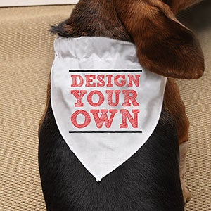 Design Your Own Personalized Dog Bandana - 15731