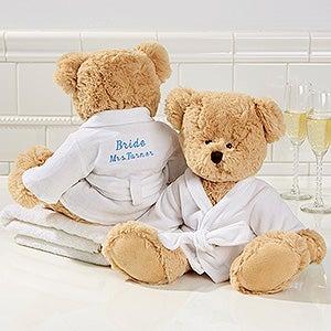 Personalized Spa Robe Teddy Bear - Wedding - 15739