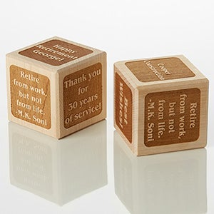 Personalized Wood Block - Retirement - 15741D