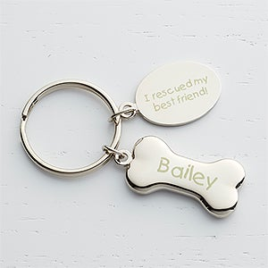Personalized Pet Key Chain - Dog Bone - 15753