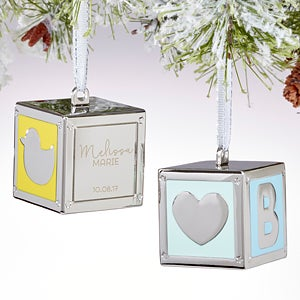Personalized New Baby Ornaments - Baby Blocks - 15760