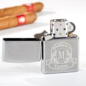 Personalized Zippo Windproof Lighter - Vintage Bar - 15766