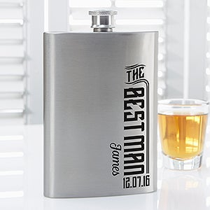 Personalized Groomsman Wedding Flask - I Do Crew - 15768