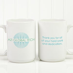 Personalized Business Logo Coffee Mugs 15oz - 15772