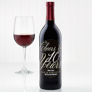 Personalized Anniversary Wine Bottle Labels - 15778