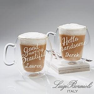 Engraved Luigi Bormioli Insulated 2-Piece Mug Set - Good Morning - 15781