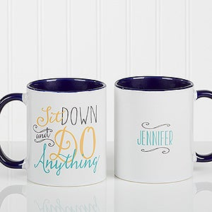 Personalized Daily Cup Of Inspiration Coffee Mug Blue