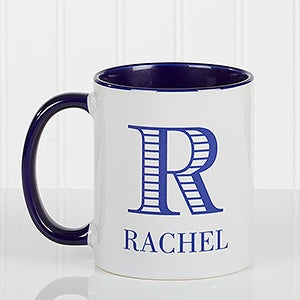 Personalized Coffee Mug - Striped Monogram - 15799