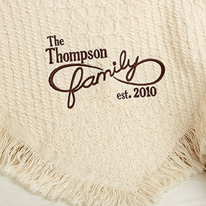 Personalized Afghan - Family Is Forever - 15802