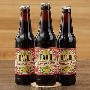 Personalized Beer Bottle Labels Set Of 6 His Brew