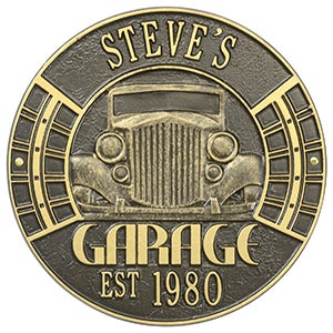 Personalized Aluminum Garage Plaque - Vintage Car - 15807D