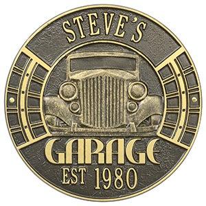 Personalized Aluminum Garage Plaque - Vintage Car - 15807D