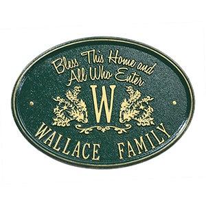 Personalized Aluminum Plaque - Bless Our Home - 15808D