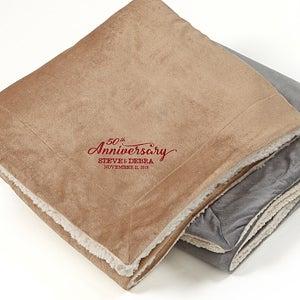 Personalized Sherpa Fleece Blanket - Everlasting Love - 15814