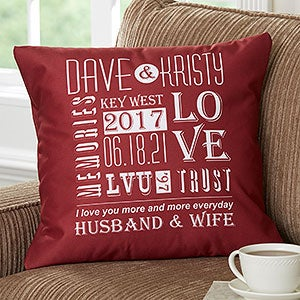 Romantic Personalized 18 Throw Pillow Our Life Together Romantic Gifts