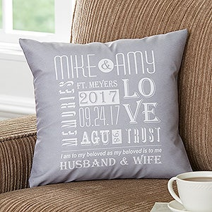 Romantic Personalized Throw Pillows - Our Life Together - 15829