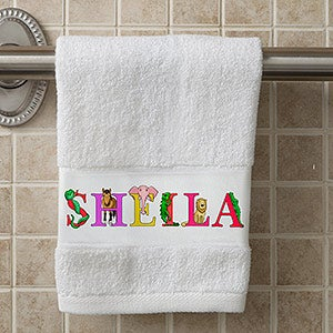 Personalized Hand Towel - Alphabet Animals - 15836