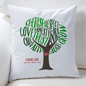 Personalized Keepsake Pillow - Tree Of Words - 15842
