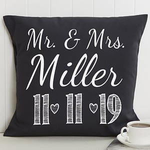 Personalized wedding throw pillow 18 wedding gifts our wedding date personalized throw pillow 15843 negle Image collections