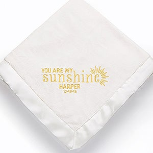 Embroidered Baby Keepsake Blanket - You Are My Sunshine - 15847