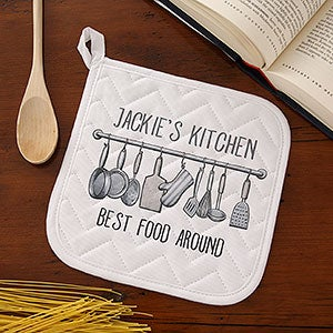 Personalized Apron & Potholder - Seasoned With Love - 15874