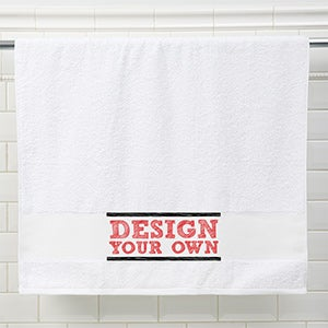 Design your own personalized bath towel Make your own bathroom design