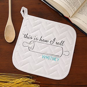 Personalized Apron & Potholder Sets - Kitchen Puns - 15881