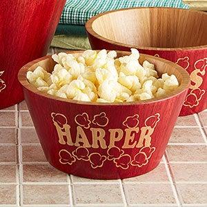 Personalized Bamboo Popcorn Bowls - Popcorn Night - 15898