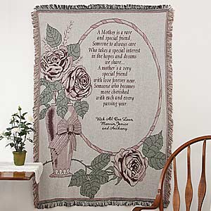 Personalized Mother's Day Afghan - My Mother, My Friend - 1589
