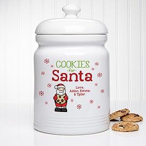 Personalized Christmas Cookie Jar - Cookies For Santa - 15914