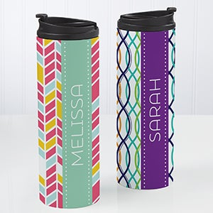 Personalized 16 oz. Travel Tumbler - Geometric - 15934