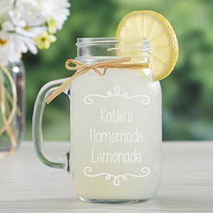 Personalized Glass Mason Jar - Write Your Own - 15935