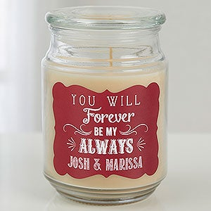 Personalized Glass Jar Candle - Love Quotes - 15941