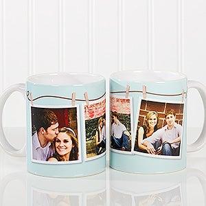 Personalized Photo Coffee Mug - Clothesline 3 Photo - 15961