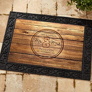 Personalized Wedding Doormat - Circle Of Love - Recycled Rubber ...