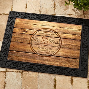 Personalized Wedding Doormat Circle Of Love 15962