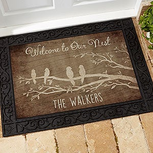 Personalized Doormat With Recycled Rubber Back Welcome