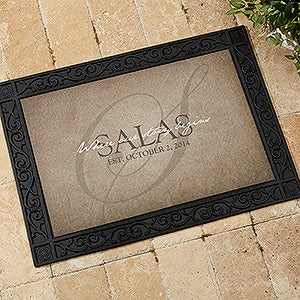 Personalized Family Doormats - Heart of Our Home - 15964