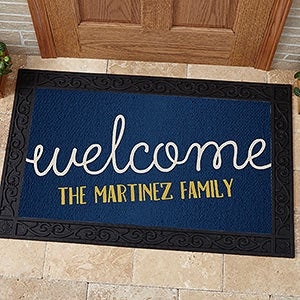 personalized front door matsPersonalized Greetings Doormat  20x35  For The Home