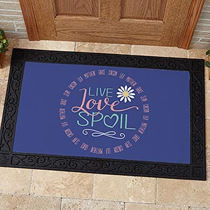 Personalized Grandparent Doormats - Live, Love, Spoil - 15968