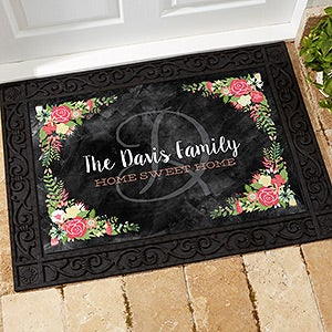 Personalized Doormat - Floral Welcome - 15969